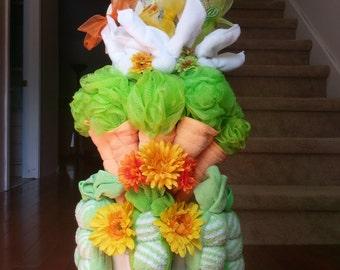 Beatrix Potter Peter Rabbit - Baby Shower Diaper Cake