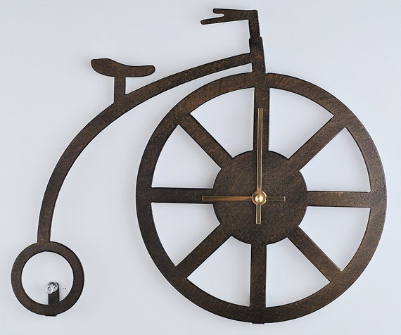 Bicycle Wall Clock Penny Farthing High Wheel By Moonladders