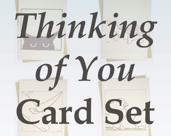 Thinking of You Card Set - Thinking of You Cards, Set of Four