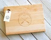 Oar Paddle Design  Personalized Cutting Board.