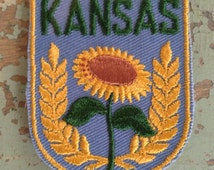 Kansas Vintage Travel Patch by Voyager