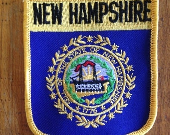 New Hampshire State Flag Vintage Travel Patch