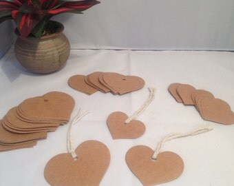 24 Heart Gift Tags