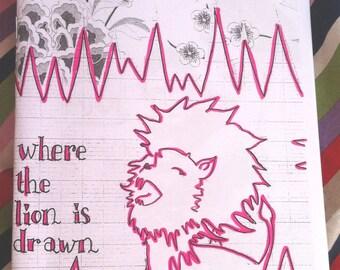 Where the Lion is Drawn. Handmade zine.