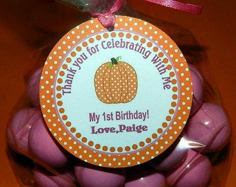 Fall Birthday Party-  Fall Birthday Party Decorations-  Fall Birthday Favor Tags- Fall Birthday