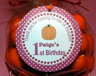 Fall Birthday Party -  Fall Birthday-  Fall Birthday Decorations-  Fall Birthday Favor Tags- Pumpkin Birthday