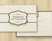 Pack of 25 Modern Classic 'Ready to Write' Blank Wedding Invitations