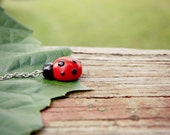 Clay Ladybug Keychain