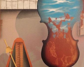 """James Carter Original Lithograph """"Violin"""" 1989"""