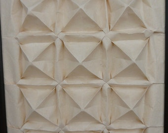 Origami Wall Art: Ivory Quilt