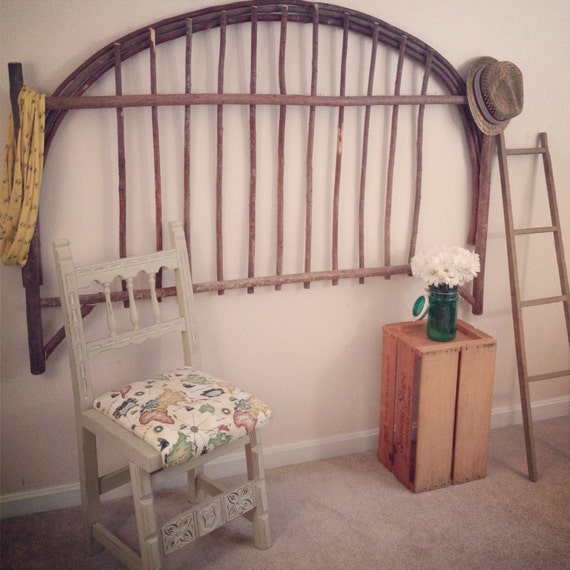 reclaimed wood headboard tree branch rustic upcycled eco. Black Bedroom Furniture Sets. Home Design Ideas