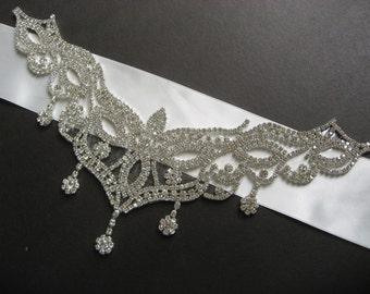 Glamours Moment Victorian Glamours Victorian Swarovski Rhinestone Crystal Wedding Bridal Belt Dress Sash