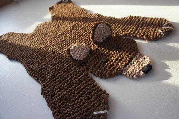 Flache Braunbär Teppich  Matte  Decke