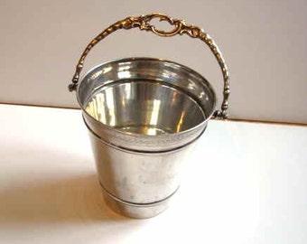 Solid 800 Silver Ice Bucket.
