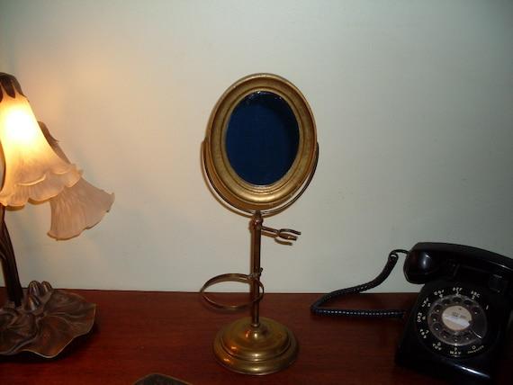 Antique Apollo Shaving Pedestal Mirror Handmade In Italy