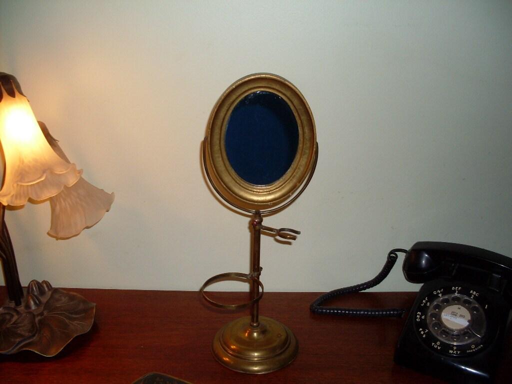 Antique Apollo Shaving Pedestal Mirror By Connecticutfinds