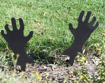 Zombie Hands! Halloween Yard Decorations. Halloween Yard Art!