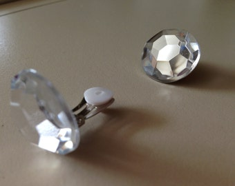 Clear Gem Play Clip Earrings for your Lil Princess.