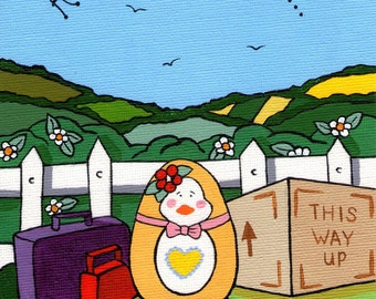 A chick is for life, Easter Greetings card.