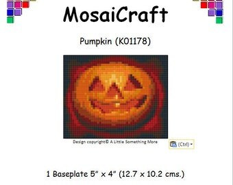 MosaiCraft Pixel Craft Mosaic Art Kit 'Pumpkin' (Like Mini Mosaic and Paint by Numbers)