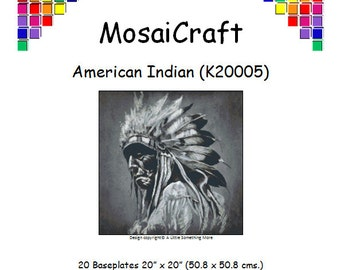 MosaiCraft Pixel Craft Mosaic Art Kit 'American Indian' (Like Mini Mosaic and Paint by Numbers)
