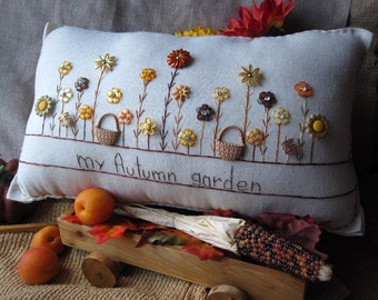 My Autumn Garden Pillow (Cottage Style)