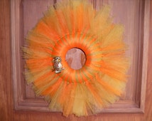 Bejeweled Owl Tulle Wreath