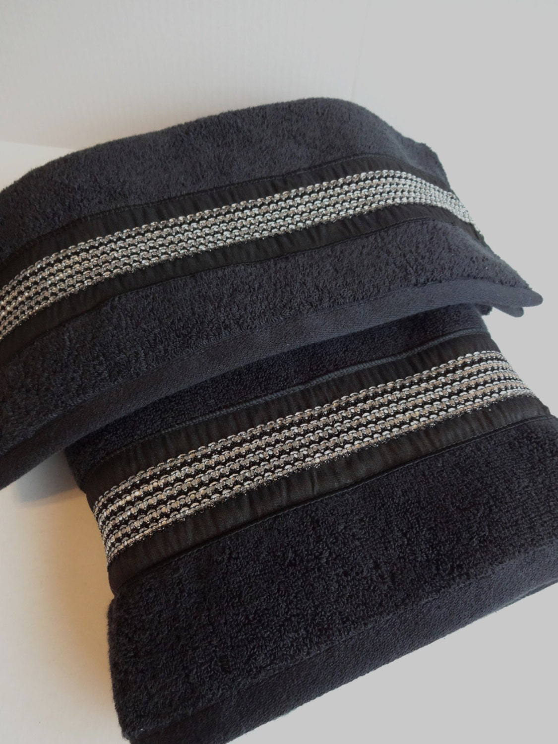Pick Your Size Bling Towels Black Towels Bling Rhinestone