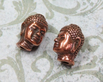 2 Buddha Copper Plate Beads by TierraCast - Item 679