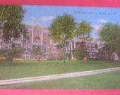 BOGO Sale,  Unused, Linen Postcard, c.1910 The Macon Hospital, Macon, GA, Historical back to Civil War, Collectors, Art, Scrapbooking