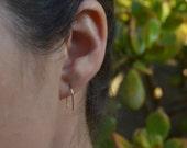 14K Gold Horseshoe Earrings - Small - Simple Minimal Earrings