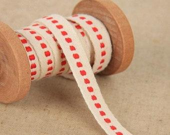 1 yard Cotton Ribbon Sewing Tape Label Print Ribbon Label-Deco Ribbon Label