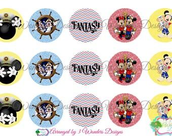 Fantasy Cruise Disney bottlecap image sheets ~7 Different ~