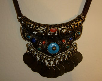 Arabian style necklace. Oriental necklace
