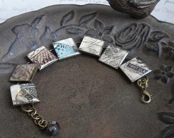 SALE! Love- resin word bracelet with butterflies