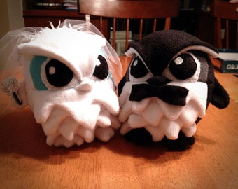 Wedding Owl Plushies - Made-to-Order