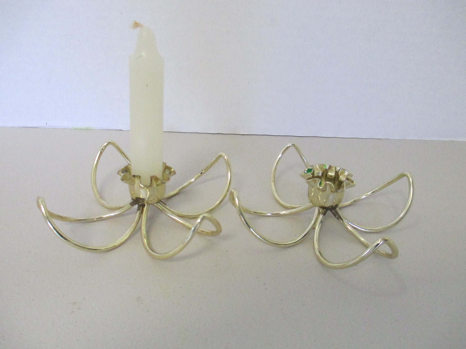 Vintage wire candle holders set of 2 used for Used candle holders