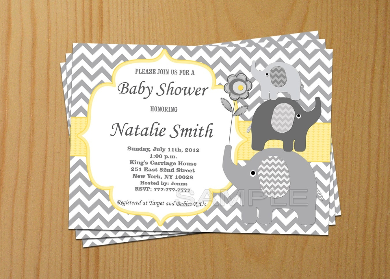 neutral baby shower invitations elephant baby shower invites, Baby shower invitations