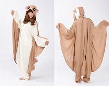 KIGURUMI Cosplay Romper Charactor animal Hooded Night clothes Pajamas Pyjamas Costume sloth  outfit Sleepwear Flying Squirrel