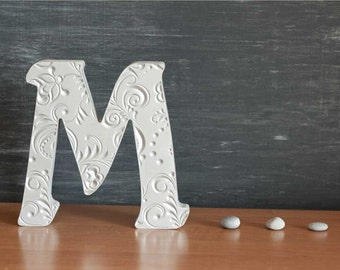M, Alphabet, wooden letters, stand up letters, gift, sign, Decoration, big letters, 10 inch letters, Home Decor, Office wooden Letter
