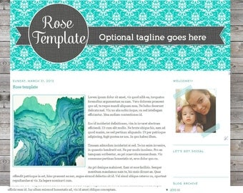 Rose Blogger Premade Template