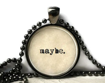 Maybe resin necklace or keychain word jewelry