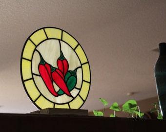 Stained Glass Chili Pepper Kitchen Decor Handmade Gift Gift For Mom Birthday
