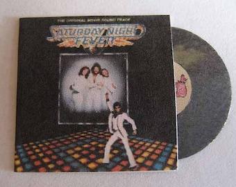 Record Album Saturday Night Fever - dollhouse miniature 1:12 scale