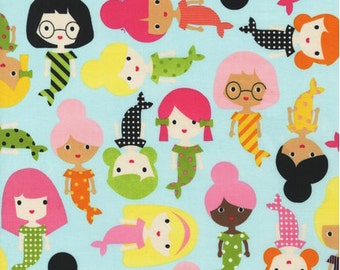 Robert Kaufman Fabric - Surf - Girl Friends - from FQ to a Metre
