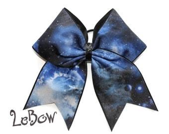 Cheer Bow,Blue,Galaxy