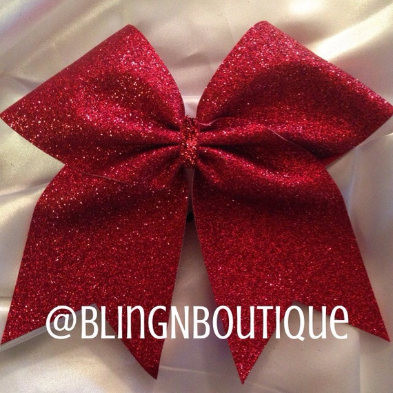 Items Similar To Hot Dang Red Glitter Vinyl Cheer Bow On