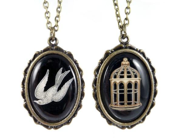 Bioshock Infinite Bird/Cage Necklace