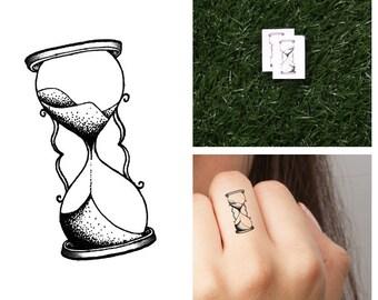 Hourglass - Temporary Tattoo (Set of 4)