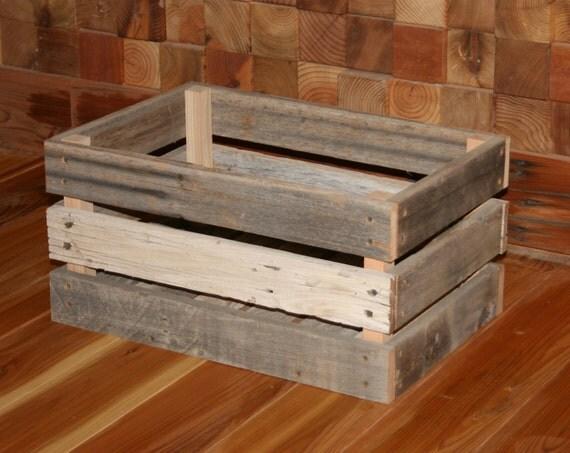 barn wood milk crate medium. Black Bedroom Furniture Sets. Home Design Ideas